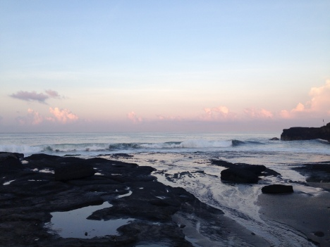 Sunrise in Tanah Lot