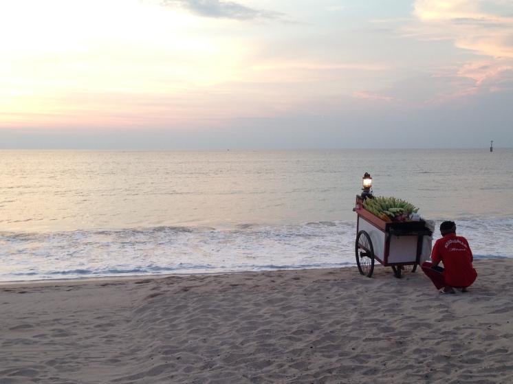 Food stall by the sea at Jimbaran