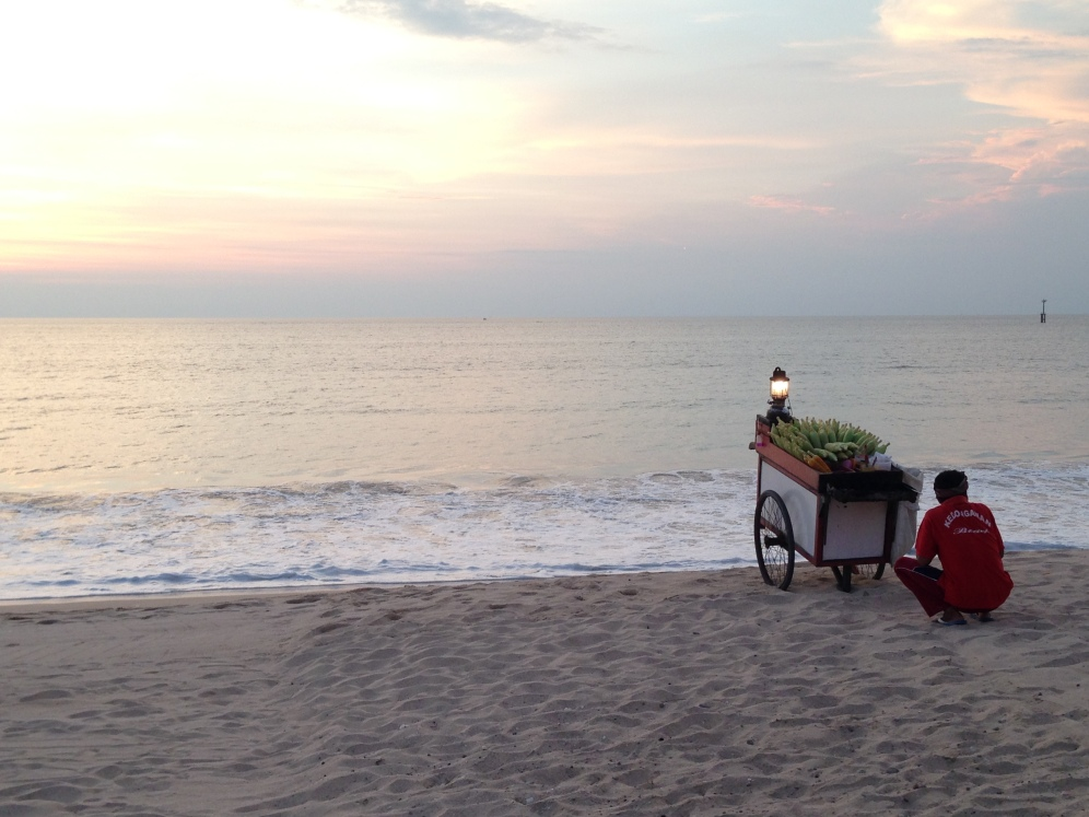 Food stall by the sea at Jimbaran