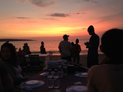 Sunset dinner at Jimbaran