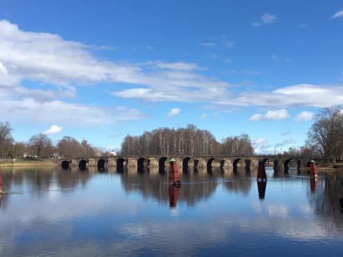 The scenic old bridge