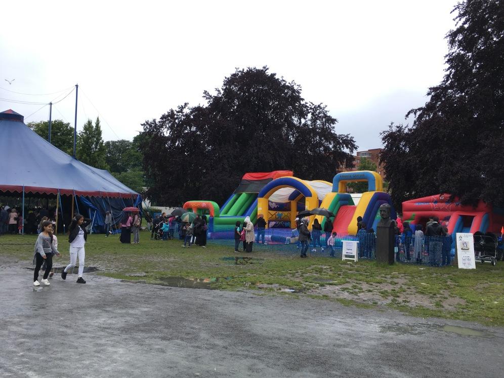 Bouncy playground