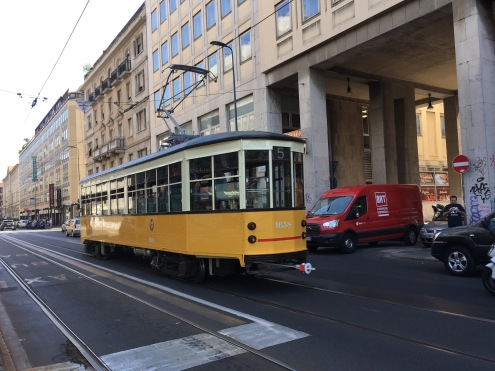The tram in Milan