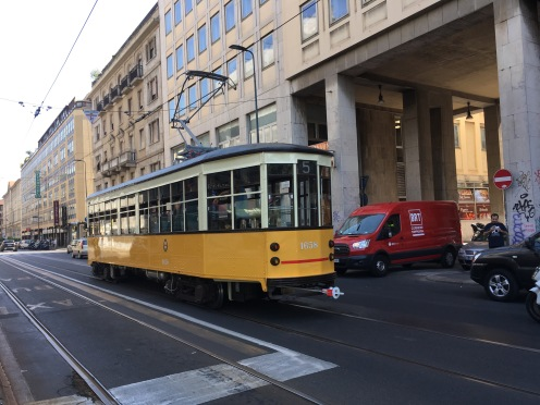 The tram in Milan