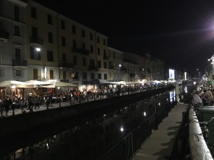 Night by the canal