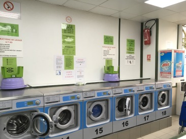 The Laverie or communal laundry