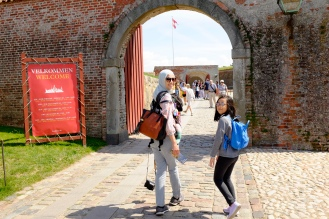 Going inside the castle